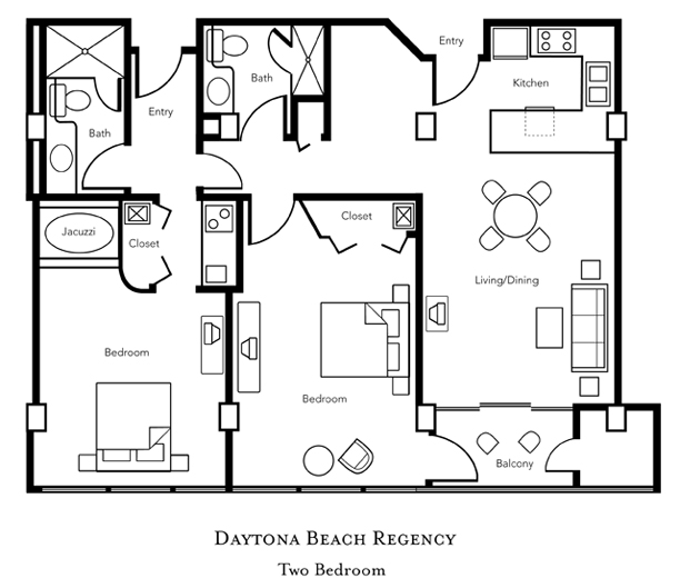 Daytona beach regency timeshare rentals vacation for 2 bedroom hotel suites in daytona beach
